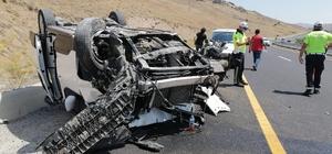 Ters dönen araçta 1 kişi yaralandı
