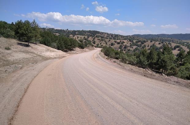 Simav'ın köy yolları beton asfaltla kaplanıyor