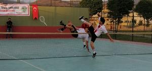 Solhan'da 'Ayak Tenisi Turnuvası' düzenlendi