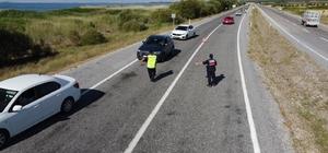 Jandarma'dan bayram öncesi drone ile trafik denetimi