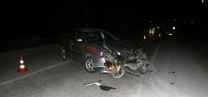 Konya'da otomobil ile motosiklet çarpıştı: 2 yaralı