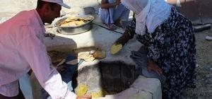 Samsat'ta bayram taplaması yapılıyor