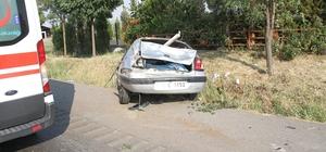 Kontrolden çıkan otomobil su kanalına düştü: 2 yaralı