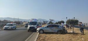 Gaziantep'te cip ile otomobil çarpıştı: 2 yaralı