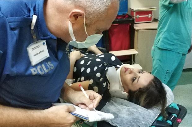 Gokart kazasında İranlı kadın hastanelik oldu