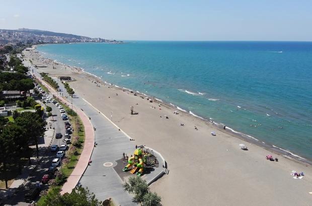 Çöl sıcaklarının yaşandığı Samsun'da sahiller boş kaldı
