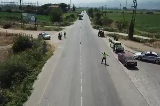 Salihli Jandarma'dan drone destekli denetim