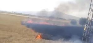 Kütahya'da buğday ekili 4 dekarlık alan kül oldu