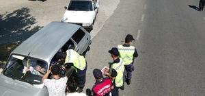 Kahramanmaraş'ta drone destekli trafik denetimi