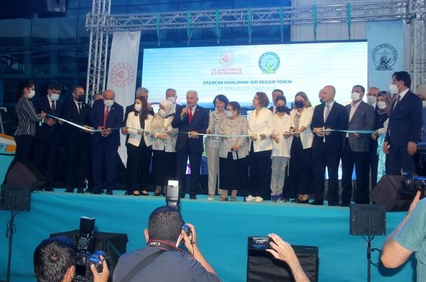 """Erzincan Yıldırım Akbulut Havalimanı isim değişikliği töreni Ulaştırma ve Altyapı Bakanı Adil Karaismailoğlu: """" 26 olan havalimanı sayımızı 56'ya yükselttik"""""""