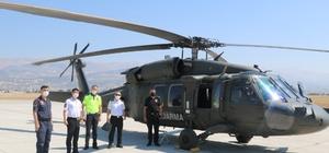 Kahramanmaraş'ta helikopter ile havadan trafik denetimi