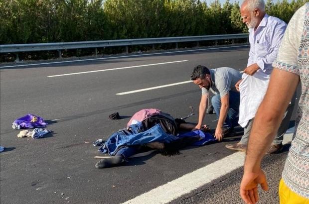 Lastik değiştirirken tırın çarptığı sürücü öldü