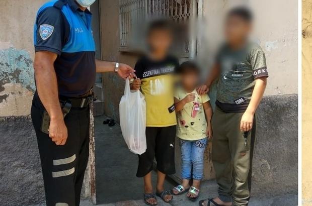 Polis garibanın yanında Adana Emniyet Müdürlüğü ekonomik düzeyi düşük ailelere kurban eti dağıtımı yaptı