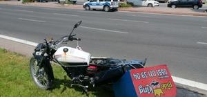 Çaldığı motosikletle kaza yapınca bırakıp kaçtı Polis ekipleri şüpheli şahsı yakalamak için çalışma başlattı