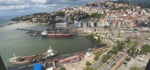 Zonguldak'ta bayram trafiği havadan denetlendi