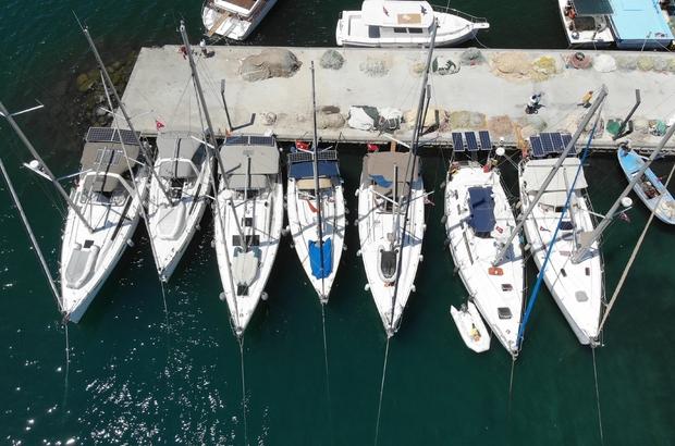 (Özel haber) Yelkencilerin yeni keşif rotası Edremit Körfezi