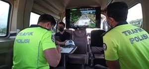 TEM'de drone ile denetimde sürücülere ceza yağdı