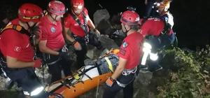 Otomobil, 200 metrelik uçuruma yuvarlandı: 1 ölü 200 metre uçurumu yuvarlanan sürücünün cenazesi 5 saatte kurtarılabildi