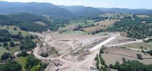 Yenice Kovancı Barajı'nda çalışmalar aralıksız devam ediyor