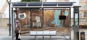 Büyükşehir, şehirdeki otobüs duraklarına doğal güzellikleri işledi