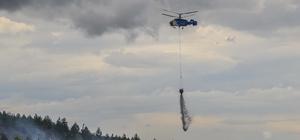 Kastamonu'da ormanlık alanda yangın çıktı Havadan ve karadan müdahale sonucu söndürülen yangında 3 dönümlük alan zarar gördü