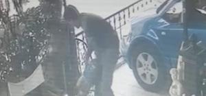 Göstere göstere çaldı, kameralara yakalandı At arabalı hırsızın rahat tavırları kameraya yansıdı