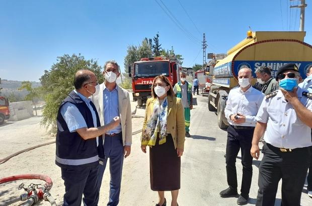 Gaziantep'teki depo yangına kaza yapan kamyon neden oldu