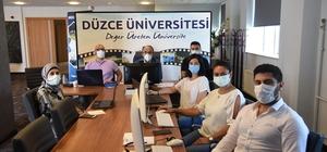 """Düzce Üniversitesi """"Study in Turkey YÖK Sanal Fuarı"""" 2021'de yerini aldı"""