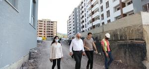 Başkan Aygün, devam eden projeleri inceledi