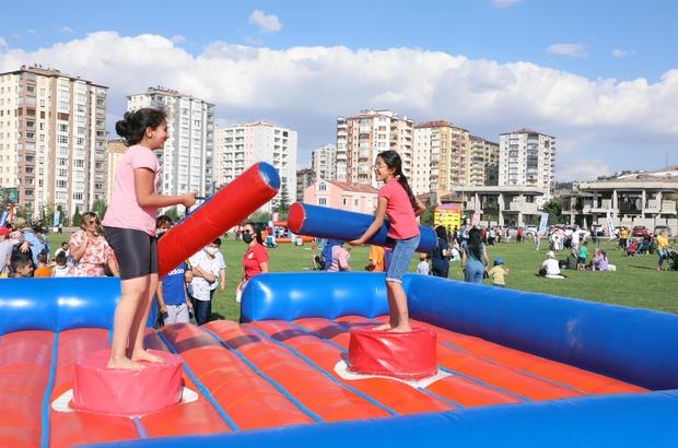 Talas'ta çocuklara muhteşem şenlik