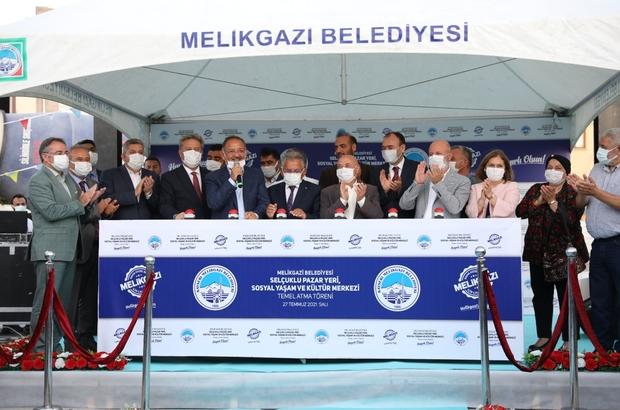 Selçuklu Pazar Yeri, Sosyal Yaşam ve Kültür Merkezi'nin temeli atıldı
