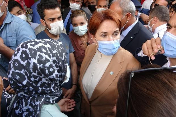 """Van'da Akşener'e """"trafik sıkıştı, gidin"""" isyanı Akşener'in esnaf ziyareti mesai bitimine denk gelince vatandaş isyan etti"""