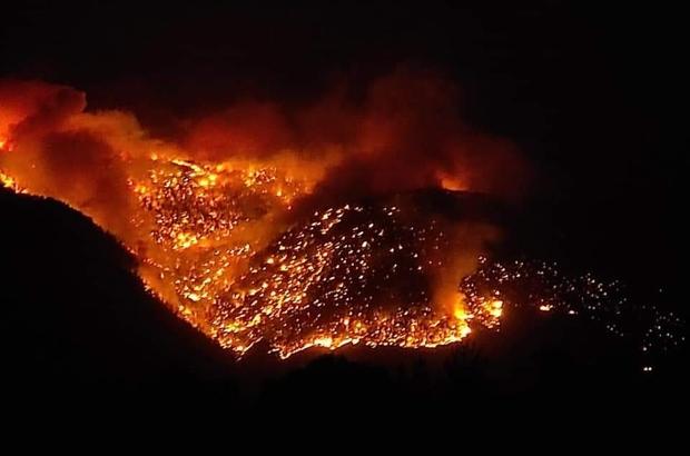Mersin Aydıncık'taki orman yangını sürüyor Bozyazı ilçesindeki yangın kontrol altına alındı