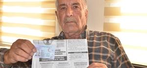 Kaybettiği kimliği 70 yaşındaki çiftçinin kabusu oldu