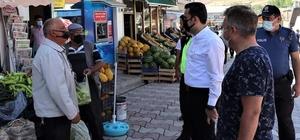 Tercan'da korona virüsle mücadelede denetimler devam ediyor