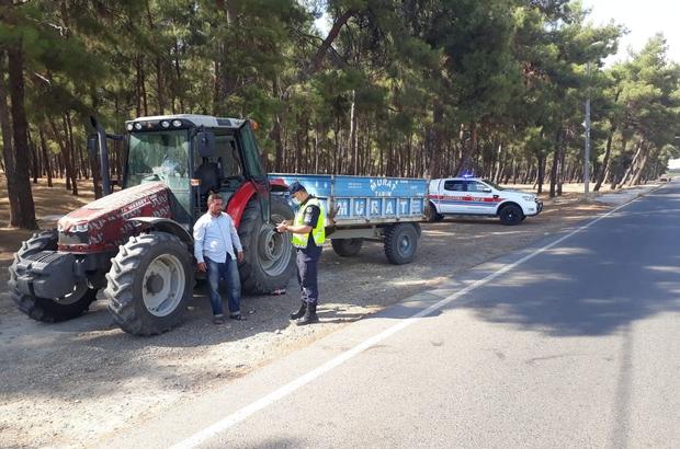 Jandarmadan traktör denetimi
