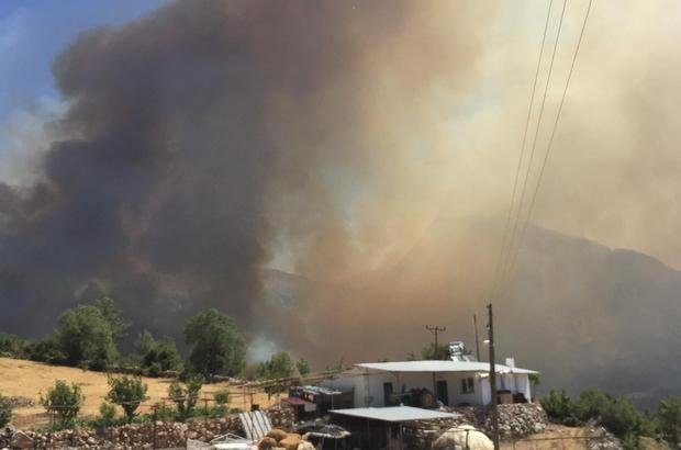 Seydikemer yangını devam ediyor Arama kurtarma ekipleri bölgede