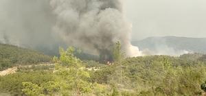 Manavgat'ta alevlerle mücadele sürüyor: Dumanlar gökyüzünü kapladı Manavgat ilçesinde çıkan orman yangını söndürme çalışmaları devam ediyor