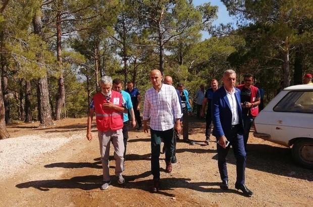 """Kılavuz: """"Bugün Türk milletinin dayanışma günüdür"""" MHP Mersin Milletvekili Olcay Kılavuz, Mersin'deki orman yangınlarının meydana geldiği bölgelerde incelemelerde bulundu"""