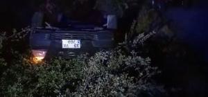 Elazığ'da otomobil şarampole yuvarlandı: 2 yaralı