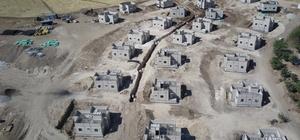 Samsat'tın köylerinde kalıcı konutlar yapılıyor