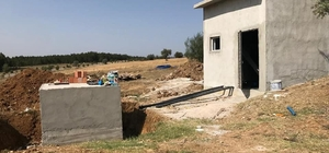 Köylerde su deposu yapım çalışmaları