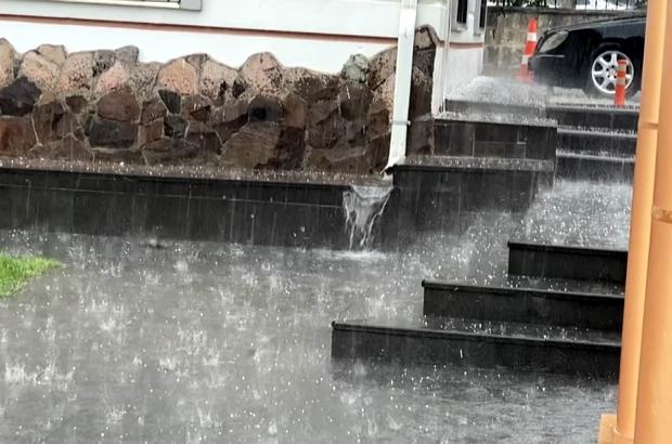 Kayseri'de dolu yağışı etkili oldu Kayseri'yi serinleten yağış