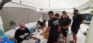 Solhanspor oyuncuları aşı olup duyarlılık çağrısında bulundu