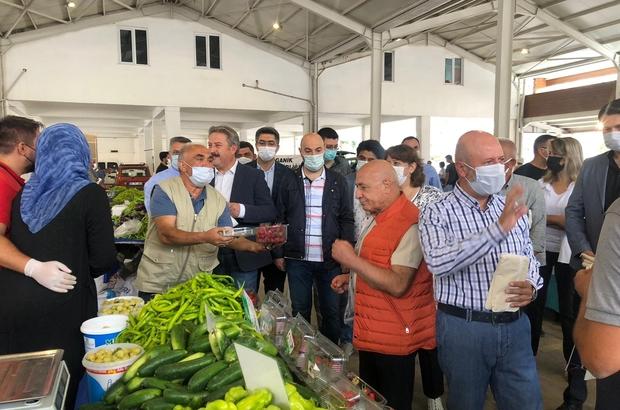 """Yüzde 100 Ekolojik Pazar'ın 9.'su açıldı Kocasinan Belediye Başkanı Ahmet Çolakbayrakdar """"Organik pazarımız Türkiye'deki sayılı noktalardan bir tanesi"""""""