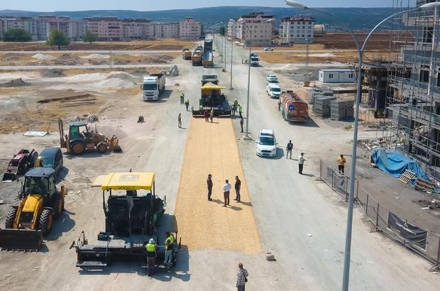 Hastane yolunda asfalt çalışması başlatıldı