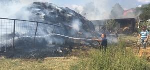 Köy halkı ve itfaiyeciler yangını söndürmek için uzun süre uğraş verdiler