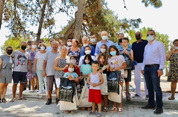 Başkan Atabay'dan çocuklara teşekkür
