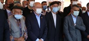CHP Genel Başkanı Kılıçdaroğlu, teyzesinin cenaze törenine katılmak üzere Tunceli'ye geldi
