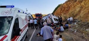 Kahramanmaraş'ta düğün yolunda kaza: 13 yaralı